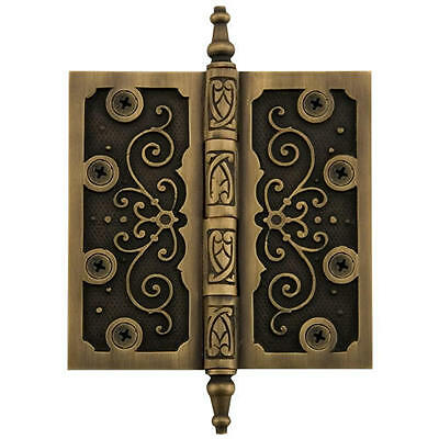 Solid Brass Ornate Hinge