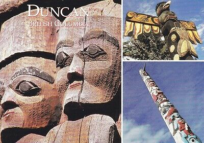 CITY OF TOTEMS, DUNCAN, British Columbia, Canada Oversized Postcard!
