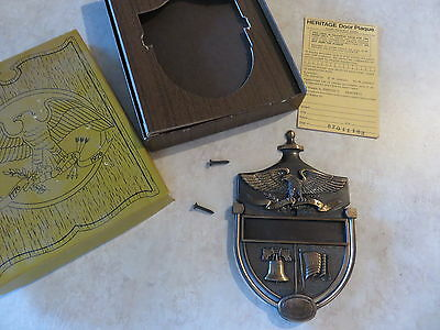 Vintage Heritage Eagle Shield Door Knocker in Box