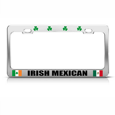 Speedy Pros Mexico Flag Mexican License Plate Frame Tag Holder Metal