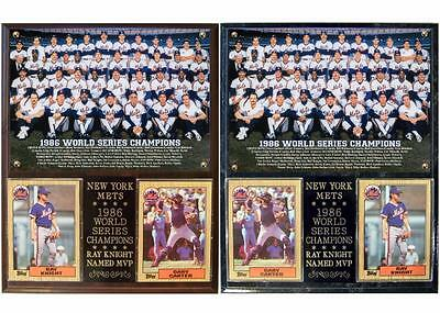1986 World Series Champions New York Mets Photo Card Plaque