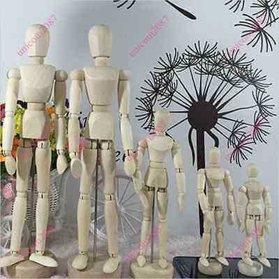Wooden Manikin Figures Jointed Doll Model Painting Artist Drawing Mannequin Yuno