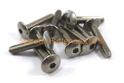 10x Motorcycle Fairing Bolts M6 x 30mm Stainless Pan Head Bolt Fender Mudguard
