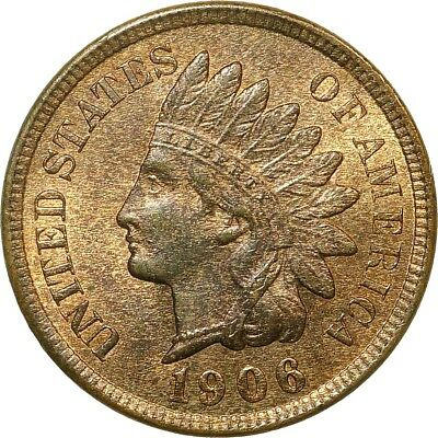 1906 Indian Cent  *Choice Mint State Red and Brown*