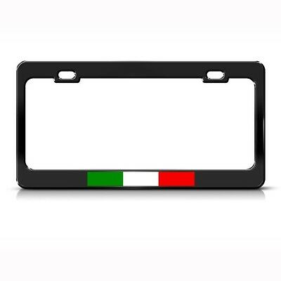 ITALY ITALIAN ITALIANO FLAG COUNTRY Metal License Plate Frame Tag Holder