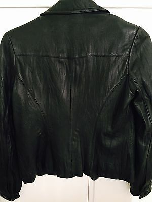 Vintage 100% Leather Jacket Size Small - Great Shape