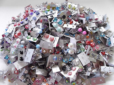 s**SPECIAL OFFER ** WHOLESALE LOT STUD EARRINGS 50 PAIRS