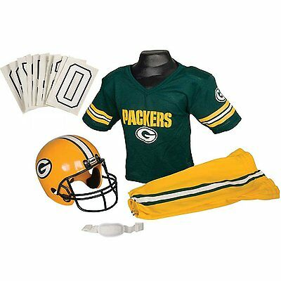 Franklin Sports NFL Green Bay Packers Deluxe Youth Uniform Set, Medium
