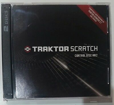 NI Traktor Scratch Control Disc MK2 PAIR CD Control Timecode DJ New