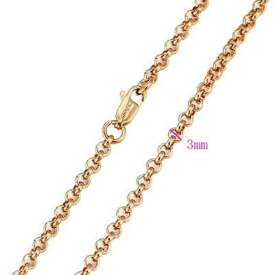 """9ct 9K Yellow /""""Gold Filled/"""" Men Ladies 18/"""" 24/"""" Necklace Chain.W=1 /& 2mm,693"""