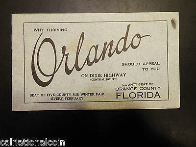 Vintage Orlando travel advertisement