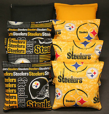 PITTSBURGH STEELERS CORNHOLE Bean Bags Set Of 8 All Weather