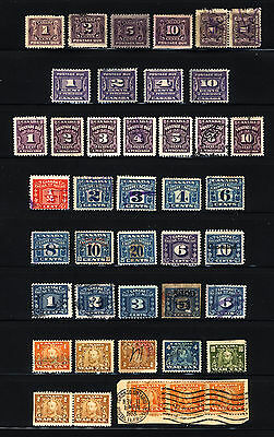 Canada 1906-33 M&U Postage Due, Excise & War Tax Stamps 38 Items