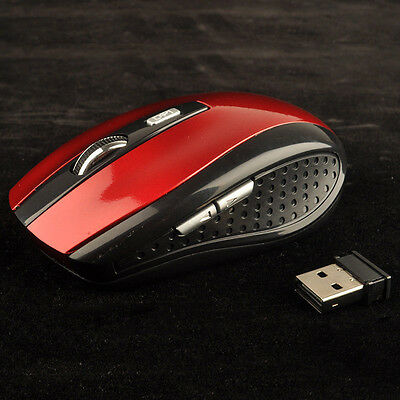 2.4GHz Wireless Cordless Optical Mouse Mice USB Receiver for Laptop PC Computer