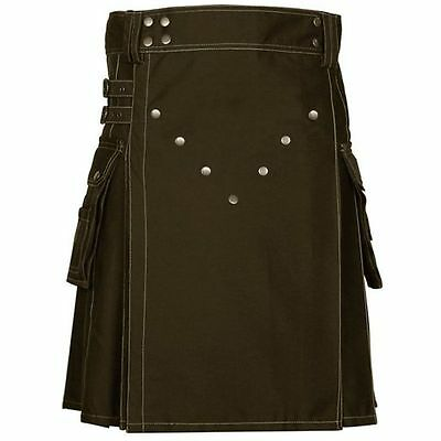 Brown Cotton Victory kilt for working man made to order kilt