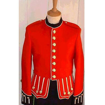 Military Piper Drummer Doublet Tunic Jacket 100% Wool , Scottish , Pipeband