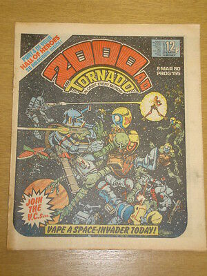 2000Ad #155 British Weekly Comic Judge Dredd Mar 1980 *