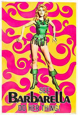 Barbarella Jane Fonda Movie Art Silk Poster 13x20 32x48 inches