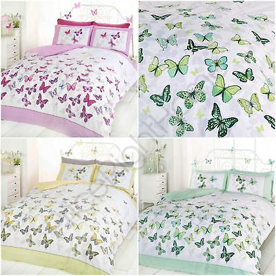 Butterfly Flutter Duvet Cover Sets Single & Double Bedroom Bedding New Free P+P