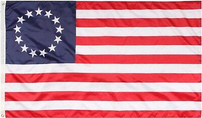 Red White & Blue Betsy Ross 13 Star Colonial American Flag 3' x 5'