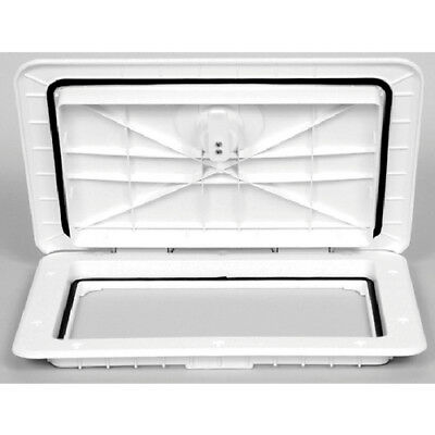 "Watertight Marine/Boat Compartment Access Hatch 11"" x 15"" - White"