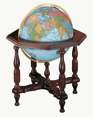 Replogle Statesman Blue Illuminated 20 Inch Floor World Globe