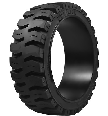 (2- tires ) 16-1/4x6x11-1/4 Wide Track solid forklift press-on TR tire 1614611