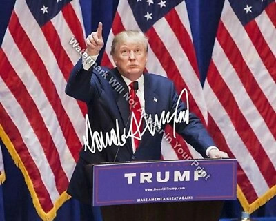 DONALD J TRUMP Signed Reprint Photo 2016 Republican President Oval Office DT6