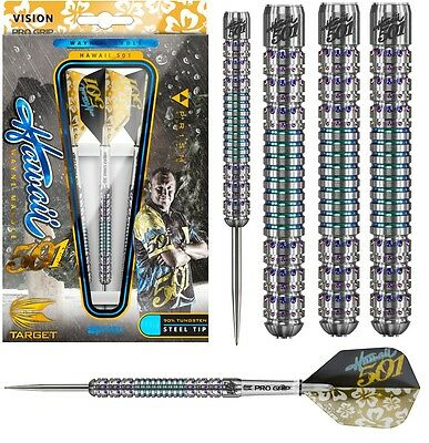 Wayne Mardle Hawaii 501 Pixel Grip 90% Tungsten Steel Tip Darts by Target