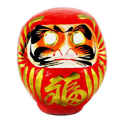 "Japanese 12""H Classical Red Daruma Doll for Luck & Good Fortune, Made in Japan"