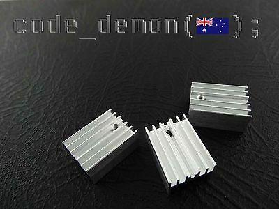 New Aluminium Heat Sink IC TO-220 (x3) - Transistor/Mosfet - Arduino / AVR