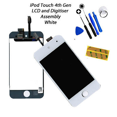 NEW LCD & Digitiser Touch Screen Replacement FOR iPod Touch 4G 4th Gen - WHITE