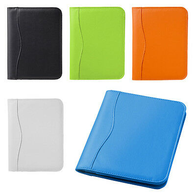 Leather Look A5 Conference Folder with Note Pad Business Executive Folder Diary
