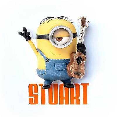 Despicable Me Minions Stuart 3D Led Deco Wall Night Light New