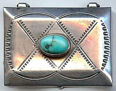 Navajo indian designs Print Vintage Navajo Indian Silver Stamped Designs Turquoise Pill Box 12500 Picclick Navajo Nation Vintage Navajo Indian Silver Stamped Designs Turquoise Pill Box