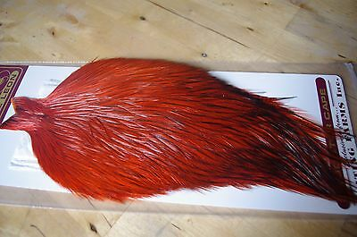 Whiting Farms Coq de Leon Rooster Cape Badger Dyed Orange