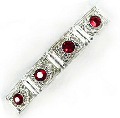 Silver Plated French Clip Barrette with Swarovski Austrian Crystal Elements 2138
