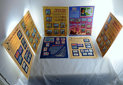 World of Stamp Series 7 Sheets Sailing Ships Famous Fighting Explorers Cup WOW!
