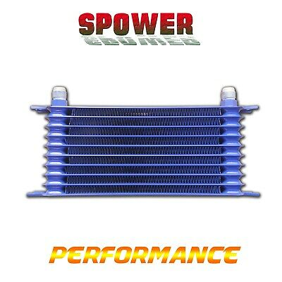 Universal Engine Transmission Oil Cooler 10 Row AN10 Blue Trust Style