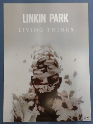 Linkin Park - Living Things OFFIC​IAL POSTER *HARD TUBE CASE* UNFOLD