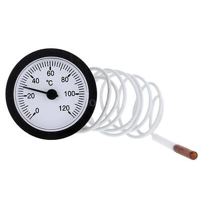 Dial Thermometer Capillary Temperature Gauge for Measuring Water w/ Sensor IF3I