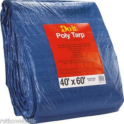 40 x 60-feet Do it Best Blue Medium Duty Poly Tarp