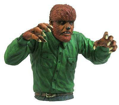 Universal Monsters WOLFMAN bust bank~Diamond Select Toys~DST~Lon Chaney~New