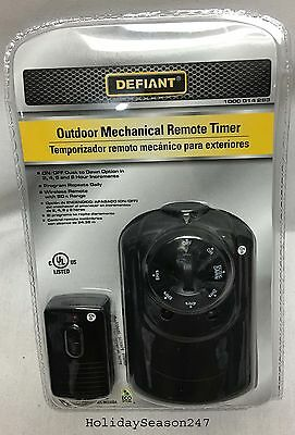 Garden Outdoor 2-8 Hour Dust to Dawn Christmas Holiday Mechanical Remote Timer