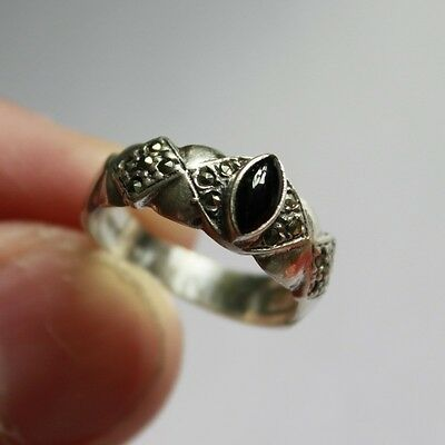 Antique Elegant Ring SILVER 925 with 100% Natural Stone ** SIZE 4 3/4 #R072
