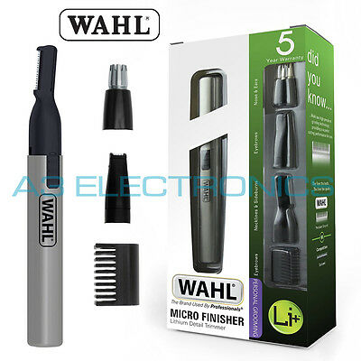 Wahl Lithium Ion Micro Finisher Detailer Fascial Ears Nose Eyebrow Hair Trimmer