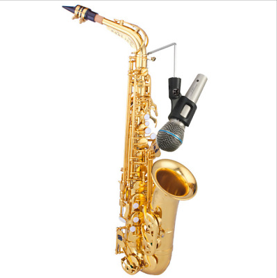 NEW Saxophone Musical Instrument Clip Microphone clip Sax microphone stand
