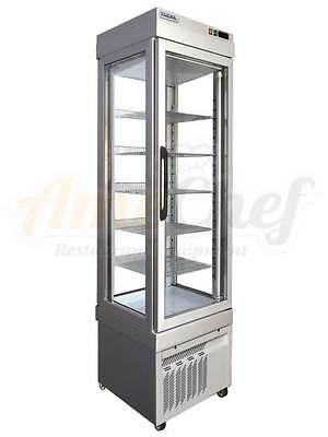 4-Sided Glass Door Slim Freezer, 5 shelves. LED.  Made in Italy, TEKNA 2400 NFN