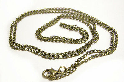 Wholesale 12 of 30 inch antique bronze necklace chain-9657A