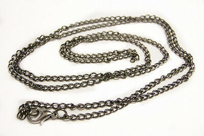 Wholesale 12 of 30 inch gunmetal finish necklace chain-9657B
